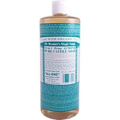 Dr. Bronner's Magic Soaps Pure-Castile Soap 18-in-1 Hemp Almond
