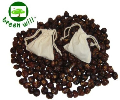 Greenwill Soapberries / Soap Nuts -- With 2 Wash Bags -- Deseeded Whole Shells (Fresh Premium Grade Not In Pieces)
