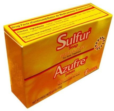 Grisi 12 Pack New Sulfur Soap with Lanolin for Acne Prone Skin