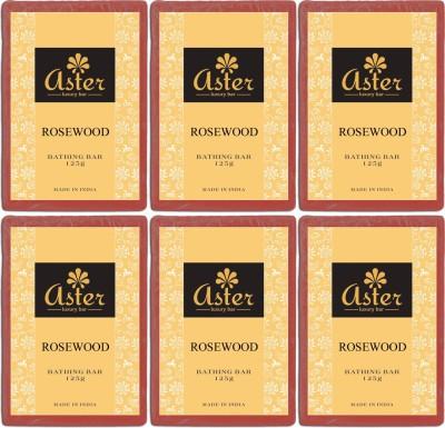 Aster Luxury Rosewood Bathing Bar - Pack of 6