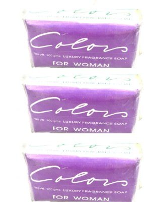 Color Luxury Fragrance Soap For Woman Pack of 3