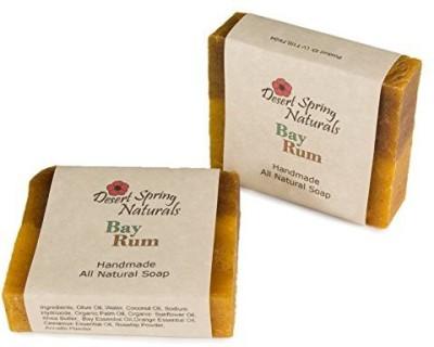 Desert Spring Naturals All Natural Handmade Bay Rum Bar Soap by Made With (2 Bar)