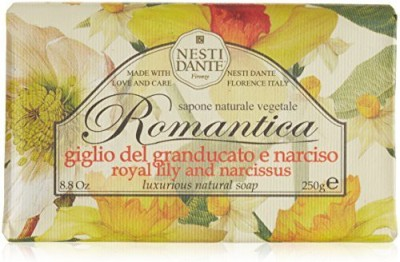 Nesti Dante Romantica Royal Lily and Narcissus Flower Natural Floral Scented Bar Soap for Bath Hands and Body