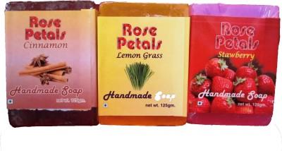 Anamis Handmade Soaps- Cinnamine, Lemon Grass And Strawberry