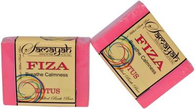 Samayah Hand Made Bath Soap Fiza (Lotus) Set of 2