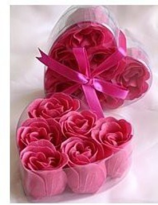 Sophie,s Favors Fuchsia Rose Petal Soaps - 2 BOXES (6 rose soaps per box)