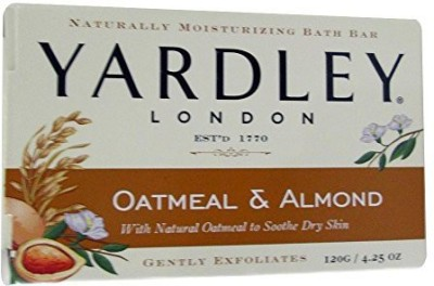 Yardley Naturally Moisturizing Bath Bar ea Oatmeal & Almond 4 Pack