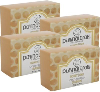 Purenaturals Hand Made Soap Honey Lime - 125g (Set of 4)