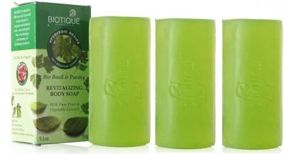 Biotique Basil & Parsley Soap (Set of 3)(450 g)
