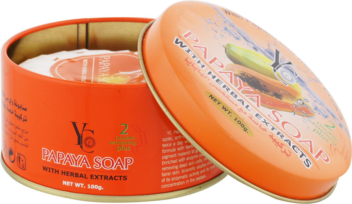 YC Papaya Soap With Herbal Extracts & Skin Fairness Soap(100 g)