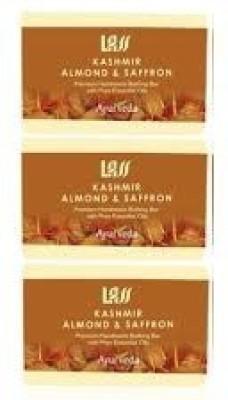 Lass Naturals Pack of 3 Lass Naturals ALMOND & SAFFRON SOAP