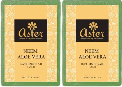 Aster Luxury Neem Aloe vera Bathing Bar - Pack of 2