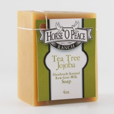 Horse ,O Peace Ranch Handmade Herbal 100% Raw Goat Milk Tea Tree Jojoba Soap