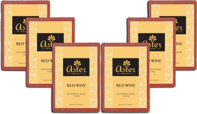 Aster Luxury Red Wine Soap - Pack of 6