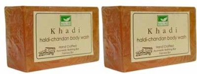 Khadimauri Haldi-Chandan Soap - Pack of 2 - Premium Handcafted Herbal