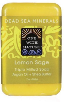 One With Nature Lemon Sage Dead Sea Mineral Soap Bar