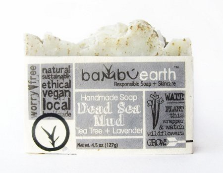 Bambuearth Handmade Soap Bars In Plantable Packaging - Lavender, Tea Tree + Mud(127.53 g)