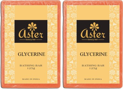 Aster Luxury Glycerin Bathing Bar - Pack of 2