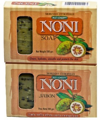 Eco Concept Natural Noni Soap from Costa Rica. (Package of 2).