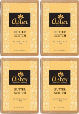 Aster Luxury Butter Scotch Soap - Pack of 4