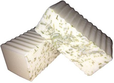 Ladybug Soap Company 2 Bars Lemongrass Spearmint Goat Milk Soap with Organic Lemongrass Exfoliants