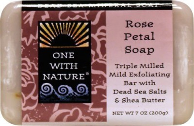 One With Nature Dead Sea Mineral Rose Petal Soap