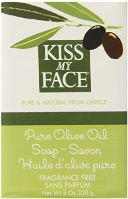 Kiss My Face Naked Pure Olive Oil Soap Moisturizing Bar Soap Bars (Pack of 8)