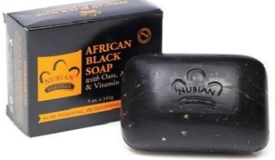 Nubian Heritage African Black Bar Soap with Oats Aloe Vera (2 Pack)