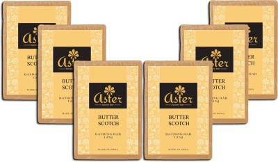 Aster Luxury Butter Scotch Soap - Pack of 6