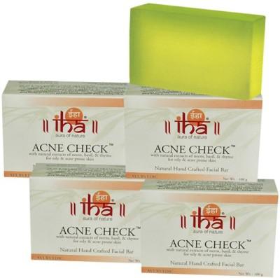 Iha Ayurvedic Acne Check Soap - Pack of 4 - Premium Herbal