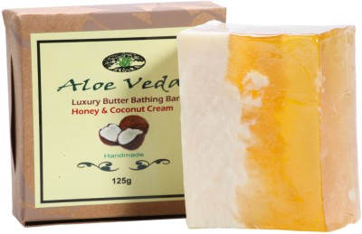 Aloe Veda Luxury Butter Bathing Bar - Honey & Coconut Cream