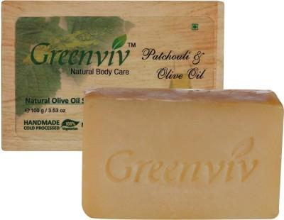 Greenviv Natural Patchouli & Olive Oil Soap