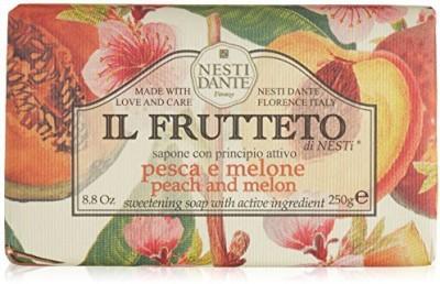 Nesti Dante Il Frutteto Peach and Melon Natural Fruit Scented Bar Soap for Bath Hands and Body