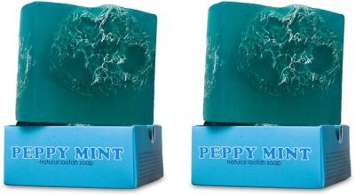 Nyassa Peppy Mint Handmade Loofah Soap Pack Of 2