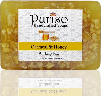 Puriso Handcrafted Soaps Honey & Oatmeal Bathing Bar- Active Series