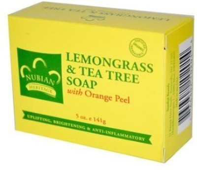 Nubian Heritage Lemongrass and Tea Tree Oil Soap Bar Pack of Two