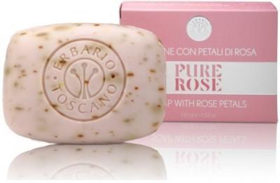 Erbario Toscano Pure Damascena Rose Soap with Petals and Moroccan Argan Oil