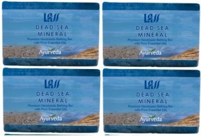 Lass Naturals Pack of 4 Lass Naturals LASS DEAD SEA MINERAL SOAP