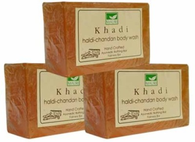 Khadimauri Haldi-Chandan Soap - Pack of 3 - Premium Handcafted Herbal