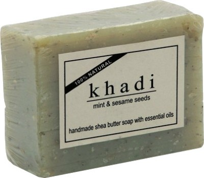 khadi Natural Mint & Sesame Seeds Soap (With Shea Butter)