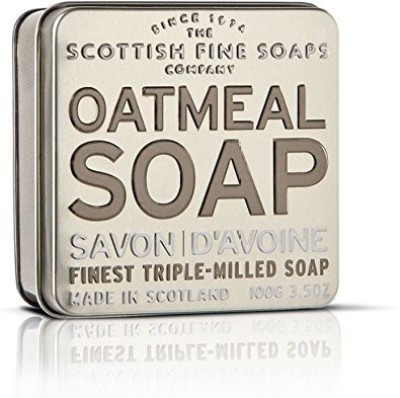 The Scottish Fine Soaps Company Exfoliating Oatmeal Soap in a Tin