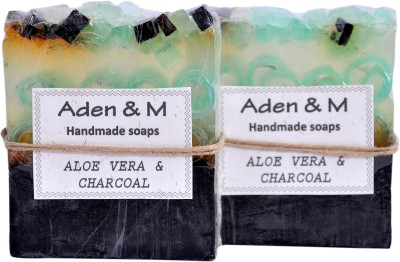 Aden & M Aloe Vera & Charcoal Soap - Pack of 2