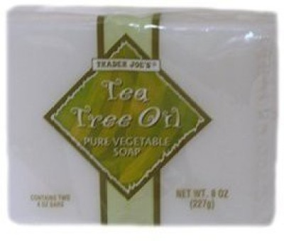 Trader Joe's Tea Tree Oil Pure Vegetable Soap (2 Bars) - No Animal By-Products - Cruelty Free - Not Tested On Animals