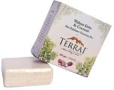 Terrai Natural Products Walnnut Grits & Coconut Skin Exfoliator Cleansing Bar