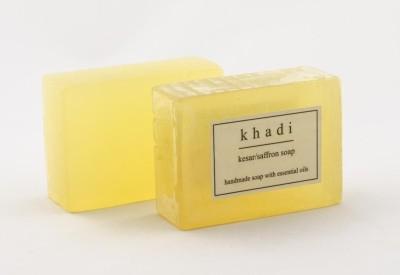 Khadi Natural Kesar/Saffron Soap - Pack of 2
