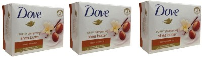 Dove Purely Pampering Karite y Vainilla Beauty Bar (Pack Of 3)
