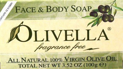 Olivella Soap Bar Fragrance Free (Case of 6)
