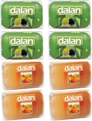 Dalan Glycerine Soap 8 Pack Combo of Olive & Almond Oil, from Turkey