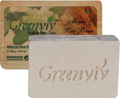 Greenviv Natural Mogra & Rice Bran Oil Soap