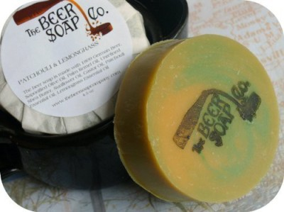 The Beer Soap Company Lagers Patchouli and Lemongrass Beer Soap - Made with Moosehead Canadian Lager
